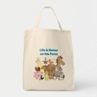 La vida es mejor en la granja - bolso de