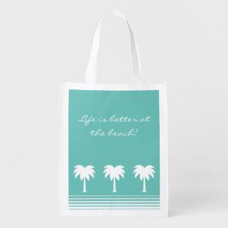 La vida es mejor en los bolsos de ultramarinos bolsas de la compra