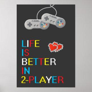 La vida es mejor en poster de 2 jugadores