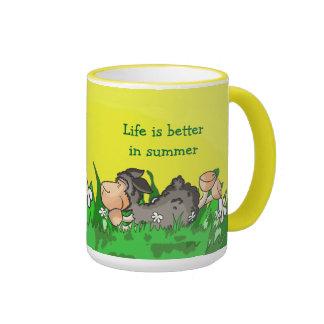 La vida es mejor en taza del verano