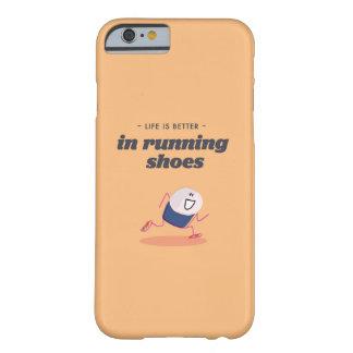 La vida es mejor en zapatillas deportivas funda para iPhone 6 barely there