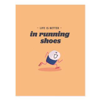 La vida es mejor en zapatillas deportivas postales