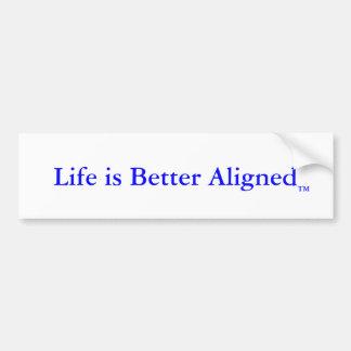 La vida es mejor pegatina para el parachoques alin pegatina para auto
