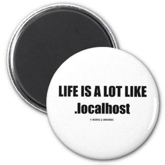 La vida es mucho como .localhost (el humor de Comp Imanes De Nevera