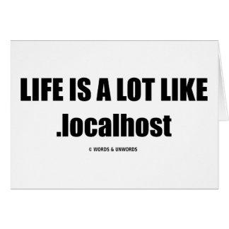 La vida es mucho como .localhost (el humor de Comp Felicitacion