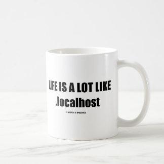 La vida es mucho como .localhost (el humor de Comp Taza De Café