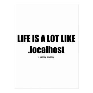 La vida es mucho como .localhost (el humor de postal