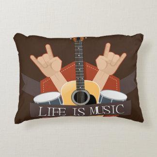 La vida es música cojín