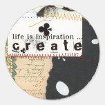 la vida es pegatina de la inspiración