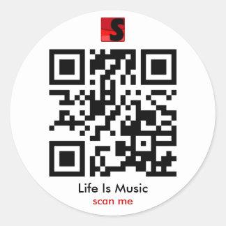 La vida es pegatina de la música QR