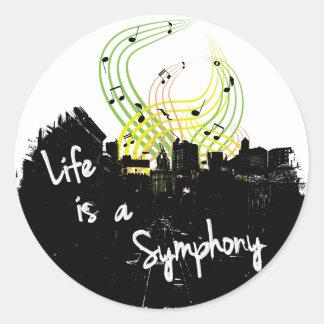 La vida es pegatina de la sinfonía