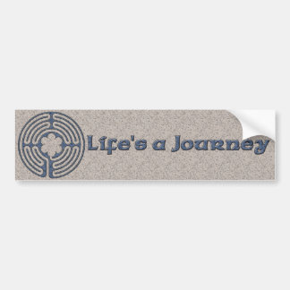 La vida es pegatina para el parachoques del viaje etiqueta de parachoque