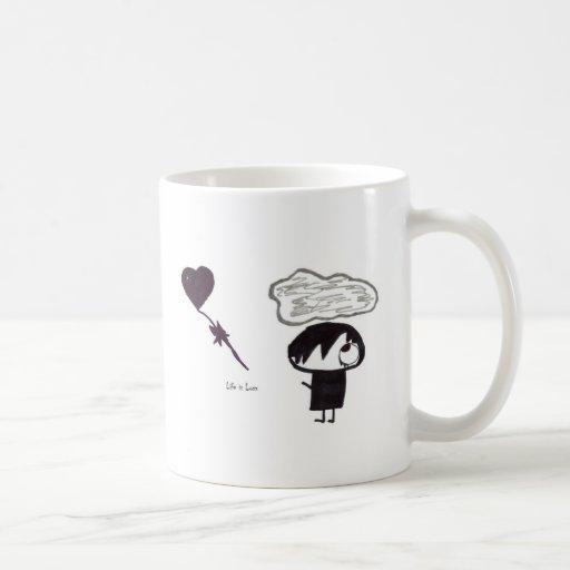La vida es pérdida tazas de café