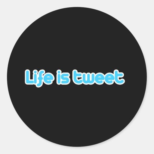 La vida es pío pegatinas redondas