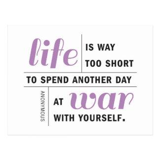 La vida es postal de motivación demasiado corta