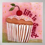 La vida es poster dulce de la magdalena