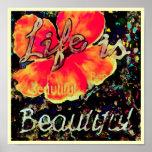 La vida es poster hermoso del ~ 11x11