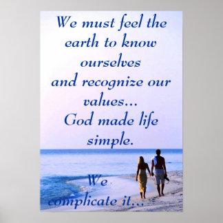 La vida es poster simple