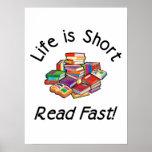 La vida es posters cortos, 4 tamaños, 5 tipos de p