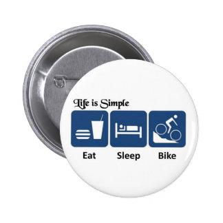 La vida es simple bici pin