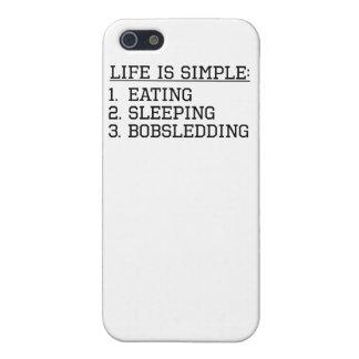 La vida es simple: El Bobsledding iPhone 5 Protector