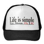 La vida es simple gorros bordados