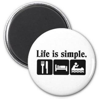La vida es simple imanes de nevera