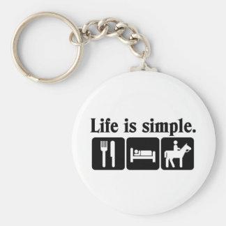 La vida es simple llaveros