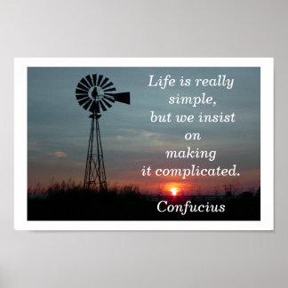 La vida es simple poster