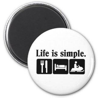 La vida es simple, snowmobiling iman