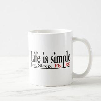 La vida es simple taza