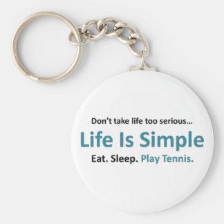 La vida es simple, tenis del juego llavero