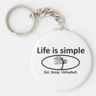 La vida es simple, voleibol llaveros