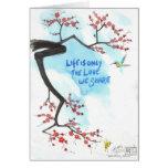 La vida es solamente el amor que usted comparte felicitación