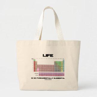 La vida es tabla periódica tan fundamental bolsa tela grande