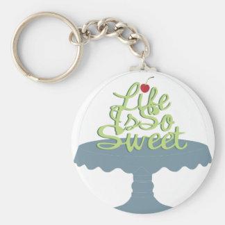 ¡La vida es tan dulce! Llavero Redondo Tipo Pin