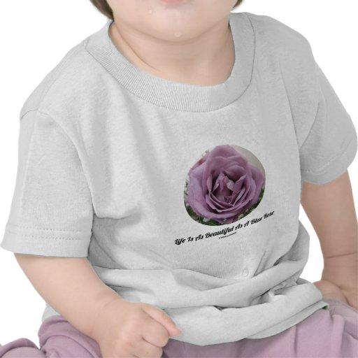 La vida es tan hermosa como color de rosa azul (la camisetas