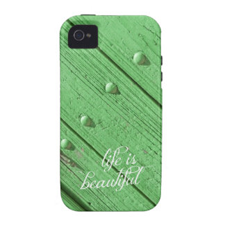La vida es tipografía hermosa del mindfulness vibe iPhone 4 fundas
