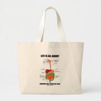 La vida es todo sobre mostrar que usted tiene bolsa tela grande