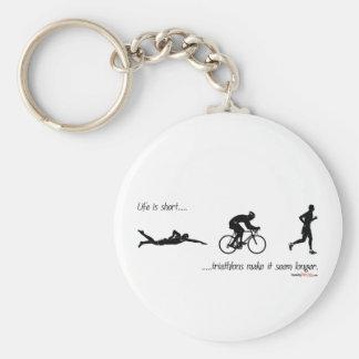 La vida es… triathlons cortos hace que parece más  llaveros