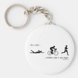 La vida es… triathlons cortos hace que parece más  llavero