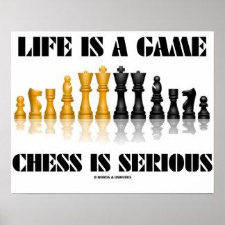 La vida es un ajedrez del juego es seria (el ajedr póster