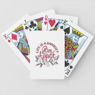 La vida es un banquete baraja de cartas