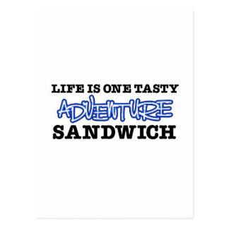 La vida es un bocadillo sabroso de la aventura postal