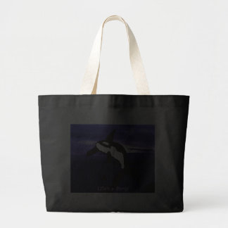 La vida es un bolso de la ballena de la orca del f bolsa tela grande