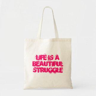 La vida es un bolso hermoso de la lucha bolsa tela barata