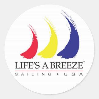 La vida es un Breeze®_Paint-The-Wind_Sailing los Pegatina Redonda