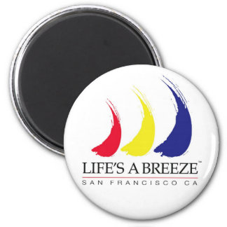 La vida es un Breeze™_Paint-The-Wind_San Francisco Imán Redondo 5 Cm