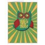 La vida es un búho de pitido tarjeta