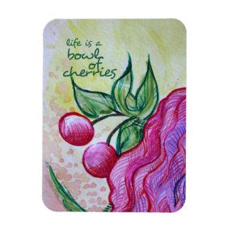 La vida es un cuenco por completo de cerezas iman